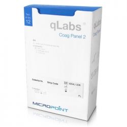 qLabs Coag Panel 2 Paski testowe PT/aPTT - 12 szt. Coag Panel 2 Test Kit 12 strips For professional Use